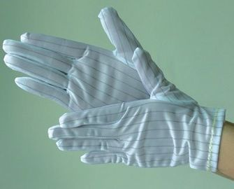China 100% Cotton SMT Consumables Esd Gloves Anti Static Gloves For Electronics supplier