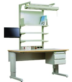 Height Adjustable Electronic Assembly Workbench Anti Static Desk Multi Function